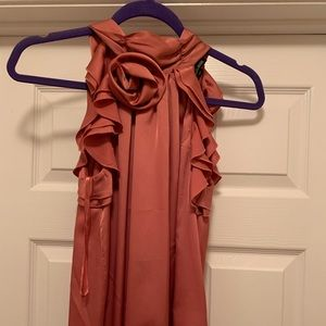 New York & Co Sleeveless blouse w/ Rose